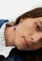 MANGO - Earrings rene - gold & blue