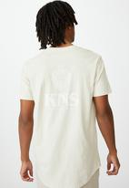 Factorie - Kns curved graphic T-shirt - ivory