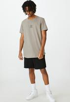 Factorie - 24 hour edit curved graphic T-shirt - grey stone