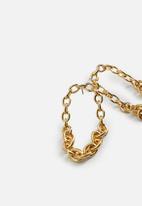 MANGO - Earrings blancas - gold