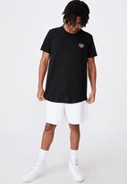 Factorie - Supply curved graphic T-shirt - black