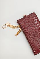 MANGO - Card holder g ginger - red