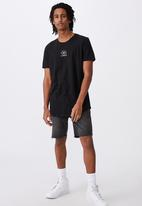 Factorie - 24 hour edit curved graphic T-shirt - black