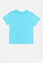 Quiksilver - Tropical lines short sleeve tee -  blue