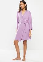 Superbalist - Short knit robe - purple