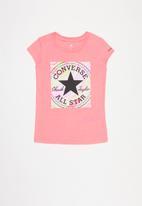Converse - Cnvg marle print cp box tee - pink