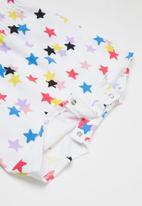 Converse - Cnvg multi star aop romper - white