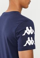 KAPPA - Authentic reser tee - navy & white