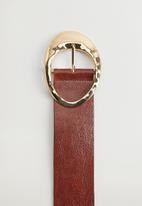 MANGO - Belt elba  - brown