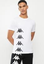KAPPA - Authentic starot tee - white & black