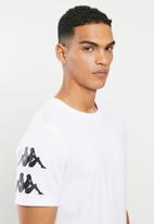 KAPPA - Authentic reser tee - white & black