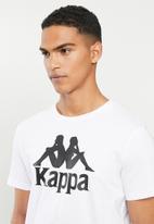 KAPPA - Authentic estessi tee - white & black
