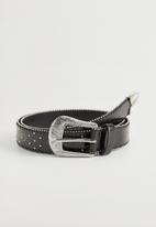 MANGO - Belt holly  - black
