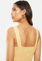 ONLY - Canyon strap crop life jumpsuit - yellow