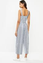 ONLY - Canyon strap crop life jumpsuit - blue
