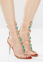 Public Desire - Spice heel - clear rust & green