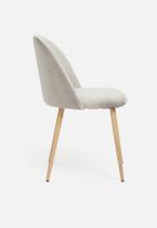 Sixth Floor - Slate dining chair - light grey