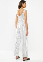ONLY - Felia sleeveless jumpsuit - stone white
