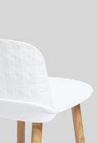 Sixth Floor - Embossed felix kitchen stool - white & natural