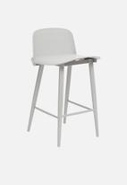 Sixth Floor - Embossed felix kitchen stool - light grey