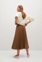 MANGO - Skirt ona - medium brown