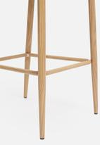 Sixth Floor - Slate kitchen stool - petrol