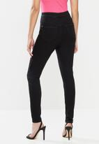 Missguided - Petite vice high waisted super stretch skinny jean - black