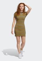 adidas Originals - Striped dress - black/coryel