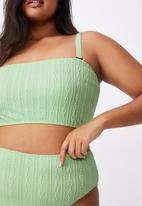 Cotton On - Curve high waisted full bikini bottom - mint broiderie