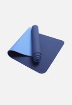 Billy The Bee Yoga - Asoka eco yoga mat-dark blue/ light blue