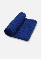 Billy The Bee Yoga - Anti Skid Yoga Towel –  Blue