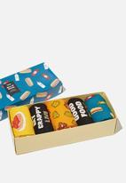 Cotton On - Good mood, good food box sock - multi