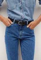 MANGO - Jeans mom80 - open blue