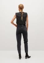 MANGO - Jeans mom - black