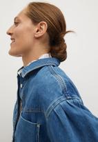 MANGO - Oversized shirt denim70 - open blue