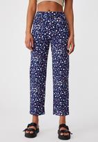 Cotton On - Happy pants - jordie floral medieval blue