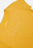 Roxy - What you know short sleeve tee -  yellow