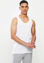 Jockey - 3 Pack eyelet vests - white