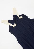 Superbalist Kids - Strap knot detail summer dress - navy