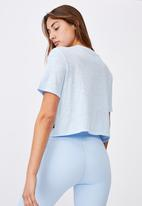 Cotton On - All things fabulous cropped tshirt - baby blue