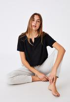 Cotton On - All things fabulous cropped T-shirt - black