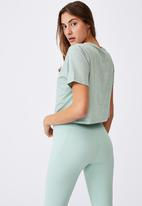 Cotton On - All things fabulous cropped T-shirt - mint chip