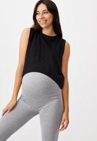 Cotton On - Maternity all things fabulous tank - black