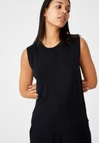 Cotton On - Sleep recovery muscle tank - black