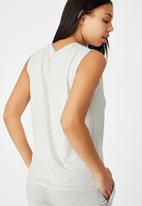 Cotton On - Sleep recovery muscle tank - soft grey marle