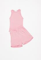 Superbalist - Vest & shorts pj set - light pink