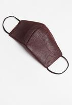 Superbalist - Glitter sports face mask - burgundy