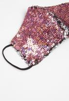 Superbalist - Reversible sequin face mask - multi