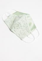 Superbalist - Lace face mask - green