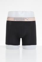 PUMA - Puma lifestyle sueded cotton boxer 3 pack box - pink & black